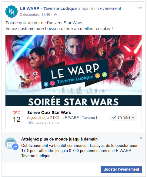 publicité facebook bar